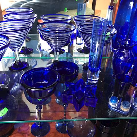 Cobalt blue grouping