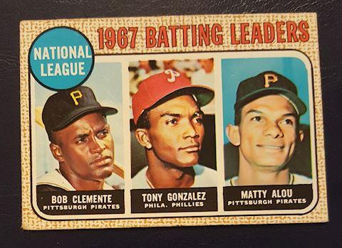 1967 Batting Leaders Baseball Card #1