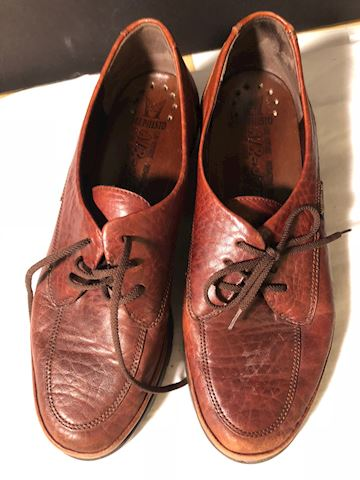 Pre-owned Brown leather Mephistom loafers 8.5