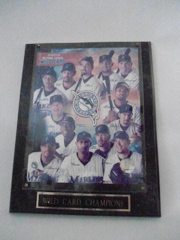 2003 Fl Marlins Wild Card Plaque