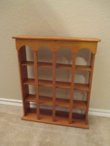 Vintage Oak Wood Wall Collectible Shelf