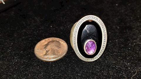 Sterling fancy ring
