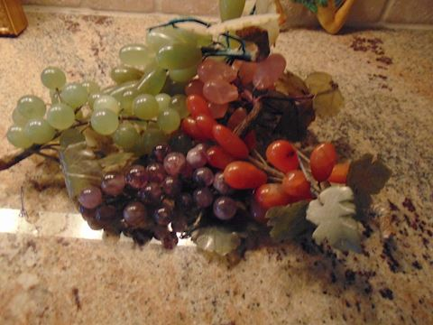 Vintage Marble Grapes. Shipping option offered!