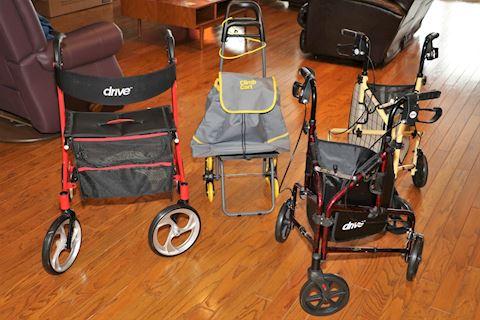 Lot of Handicap Walkers & Scooters