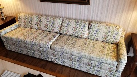Long flower print pattern sofa