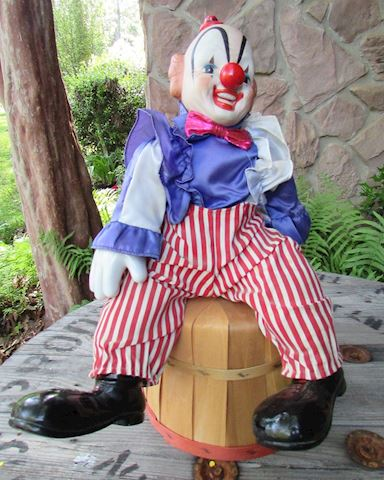 "1983 Vintage 19"" Enesco Musical Clown"