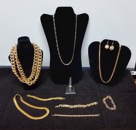 Jewelry-Womens Necklaces, Brace, Gold over Silver