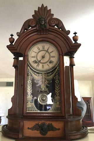 Antique Mantel Ansonia Triumph 8 Day Clock 1800s