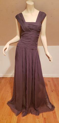 Robert Rodriguez silk Grecian grey gown