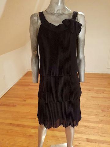 Charleston Flapper layered dress/bow pencil pleat