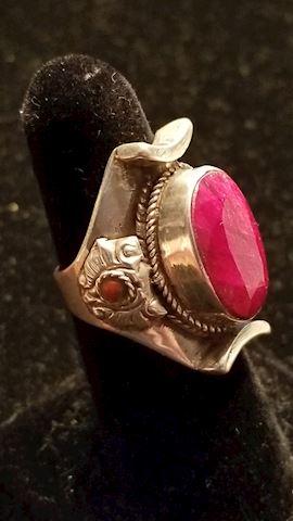 Heavy sterling ring
