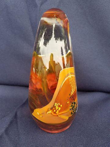 Amazing orange paperweight