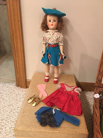 Vintage Amer Car Doll with Case and clothes