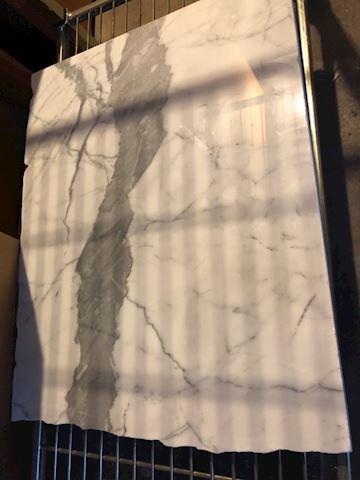 "Marble slab, 19"" x 24"" x 3/4"" thick"