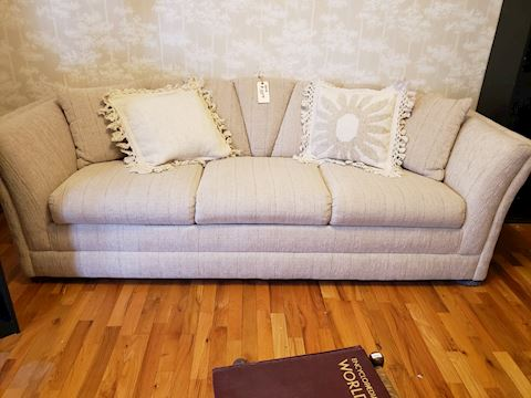 Sofa - Oatmeal color.  Textured fabric