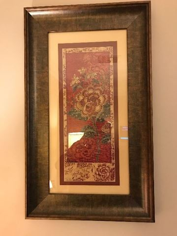 Pair of sally ray cairns framed art