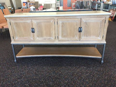 Lexington Travertine Top Wood Buffet 20x39x72