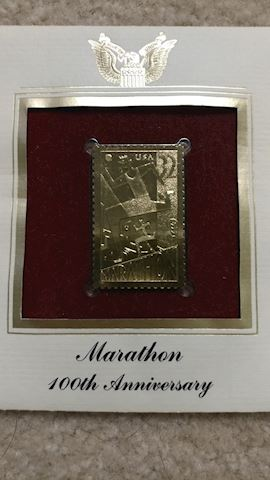 Marathon 100th Anniversary Gold Foil Stamp