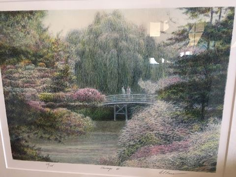 Altman Chicago Botanic Garden Signed Numbered Lith