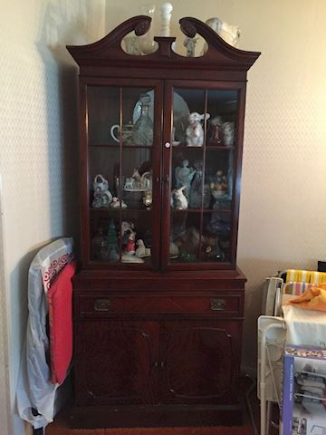 Antique China Cabinet Hutch