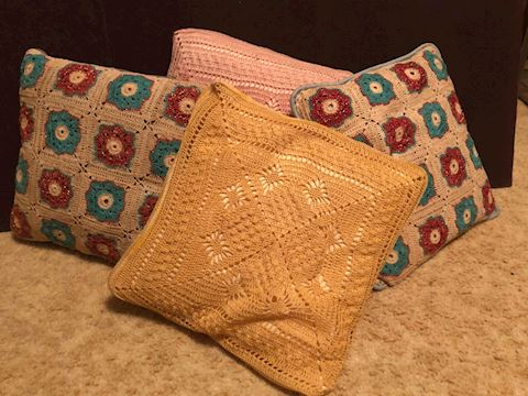Throw Pillows - Hand Embroided