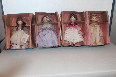 #001 Lot of 4 New Vintage Madame Alexander Dolls