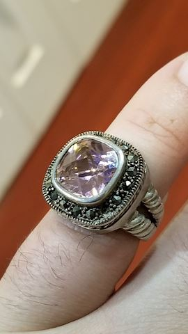 Sterling pink ring