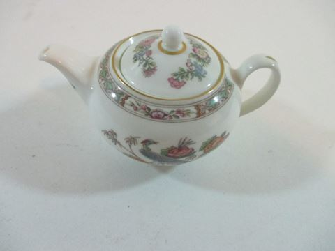 Mini Wedgewood Tea Pot  Vintage Floral Design