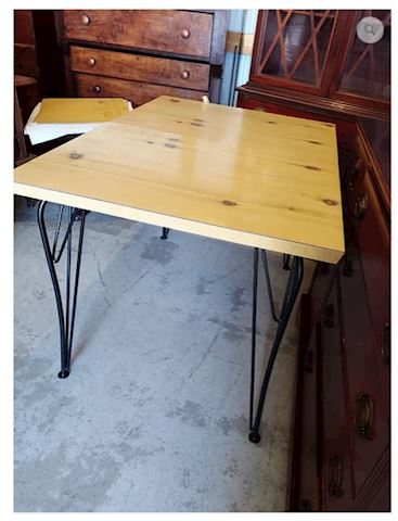 Kitchen Table Oak Wrought Iron