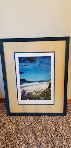 Framed Hawaiian photo signed