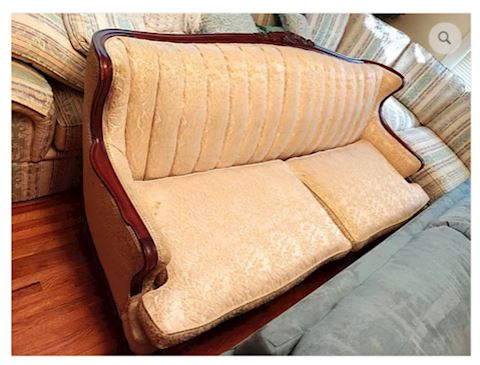 Antique Couch White Gold