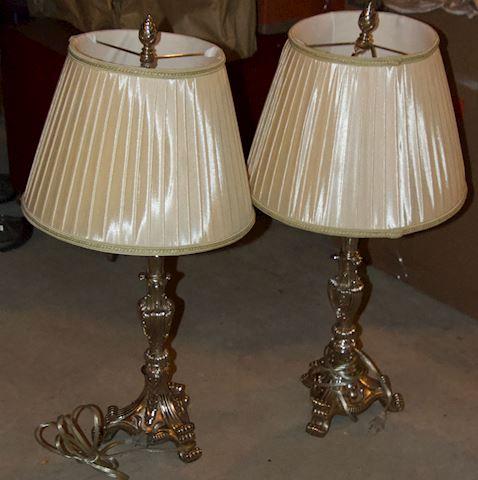 Ornate Table Lamp - Pair