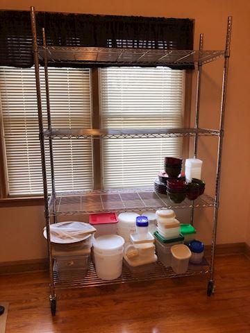 NSF wire rack shelf with wheels