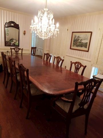 9 Piece Mahogany Dining Room Table~8 Chairs