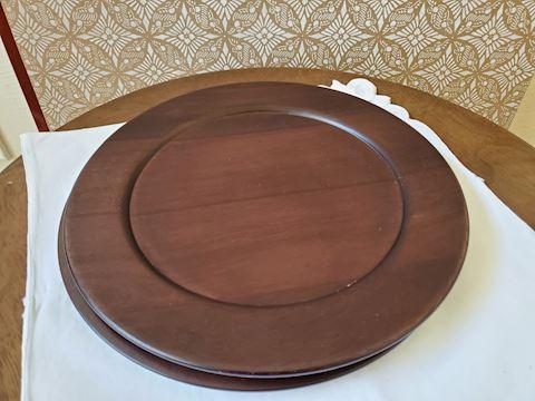 6 wooden mini platters