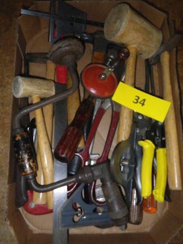 Lot #34 - Hand Tools (Basement)