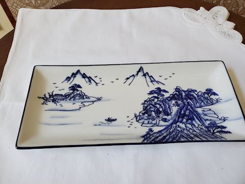 White and Blue tray (from World Market)