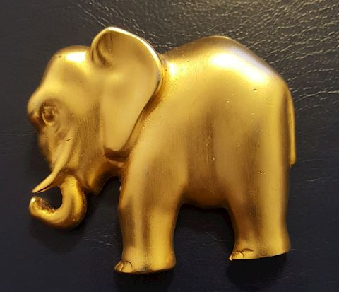 Vintage Elephant Brooch