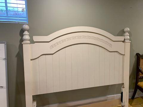 White Wood Queen Headboard, Ashley Furniture