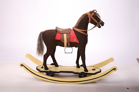 1908 German Rocking Horse/Pull Horse Real Hair