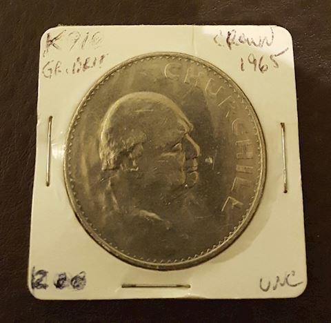 Huge Uncirculated 1965 Winston Churchill Coin