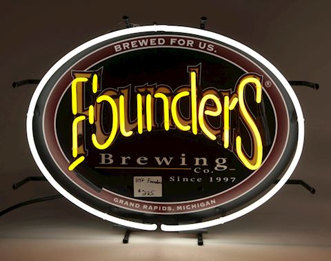 Founders Brewing Co neon sign