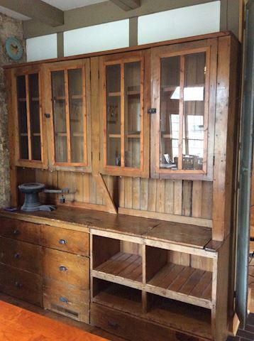 General store antique cabinet