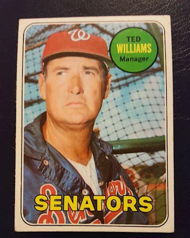 1969 Ted Williams Baseball Card #650