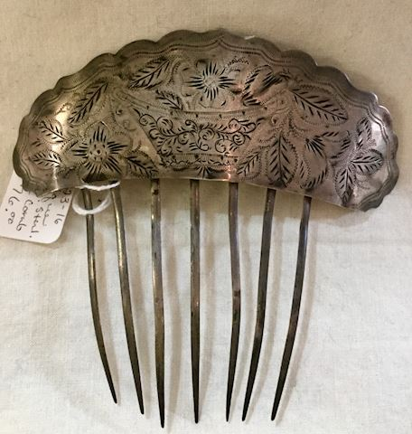 Vintage sterling hair comb