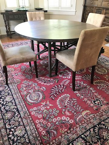 Armored Frog Dining Room Table with Four Chairs