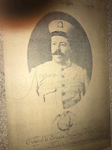 Pancho Villa old poster, General De Brigada Fransi