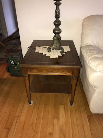 Wood end table (2 available)