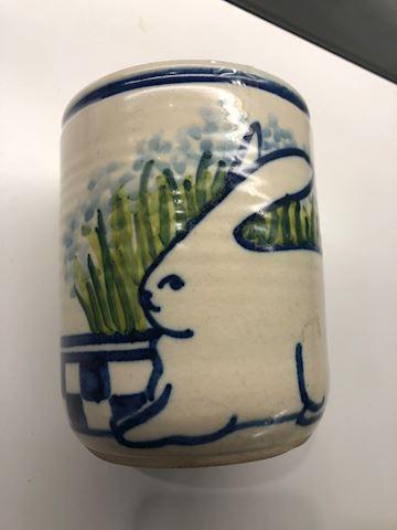 Pottery Rabbit Vase