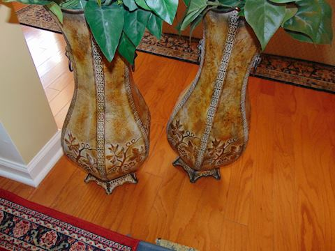 Kirkland Metal Vases